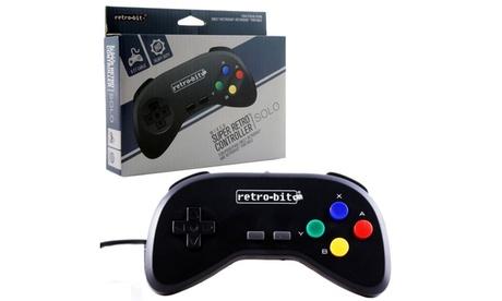 Wired Controller For Super Nintendo Entertainment System Black 76fb6054-2d50-4edd-9a0b-04ddea8e0135