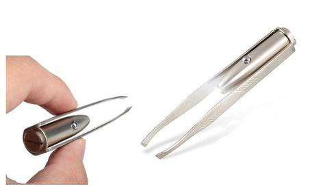 Stainless Steel LED Flash Eyelash Eyebrow Hair Remove Tweezer 67499d0f-baf9-45ce-9f1a-18e530891646