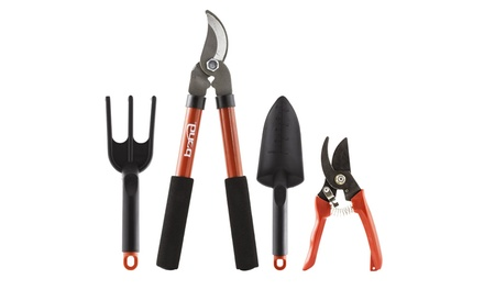 Garden tool set 4 piece groupon for Gardening 4 less groupon