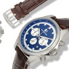 Buech And Boilat Chonograph Grand Boucle Mens Watch Brown/Silver/Blue