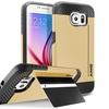 Insten Gold Hybrid Hard Soft Card Stand Case Skin For Galaxy S6