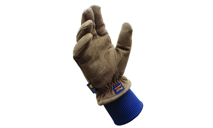 Wells Lamont HydraHyde Suede Cowhide Gloves for Men-Large