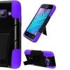 Insten Hard Hybrid Silicone Case stand For Galaxy J1 Black Purple
