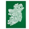 Michael Tompsett FOREST-Ireland Text Map Canvas Print