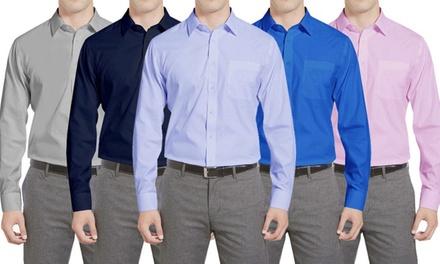 Braveman Men's Classic Fit Dress Shirts
