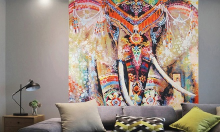 Elephant Tapestry Psychedelic Bohemian Wall Hanging Decor Tablecloths Bedspread