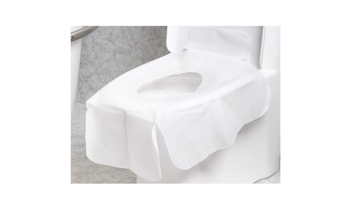24 x 29 in, 20 Pack Blue Panda Disposable Toilet Potty Seat Covers for Kids