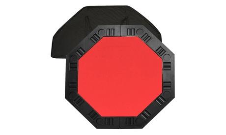 8 Player Octagonal Table top - Red - 48 inch 959b1104-a28e-48b7-9d39-cd159edae027