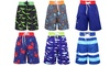 Boy's Multi-Patterned Swimwear Drawstring Boardshorts