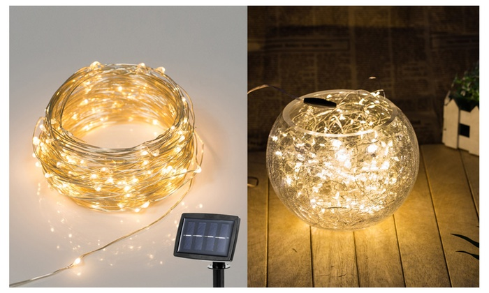 Solar Powered Starry Silver Copper Wire Lights