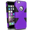 Insten Purple/Black Dynamic Hybrid Hard Soft Case For iPhone 6 Plus