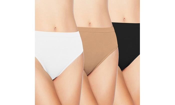 Comfortisse Seamless Panty Set of 3 - Size Medium
