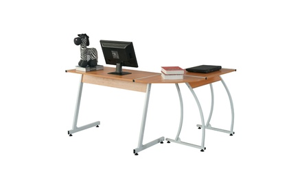 L-Shape Home PC Corner Computer Desk Office Table Workstation Furniture