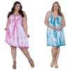 Sealed with a Kiss Designs Plus Size Lana Tie Dye Dress