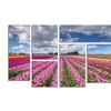 Pierre Leclerc 'Tulip Field' Multi Panel Canvas Art Set