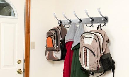 iMounTEK Wall Mount Coat Hook 15 Hooks Stainless Steel Clothes Hangers