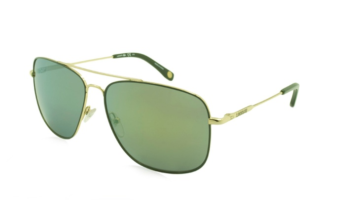 b4be1cc01c80 Lacoste Men s Sunglasses L175S - Frame  Gold Lens  Green