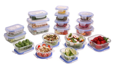 Kinetic GoGreen Glassworks Elements 36-Piece Food Storage Set f60347eb-6c1b-4d87-91cf-aad5ca3759bf