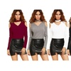 Women's Long Sleeve Sexy Casual Tops V Neck Tee Shirts