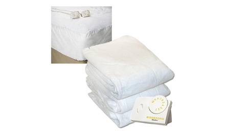 Biddeford Heated Fitted Mattress Pad Bedding Heater Cushion Cover Queen White