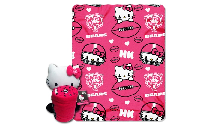 027 Bears Hello Kitty  with Throw
