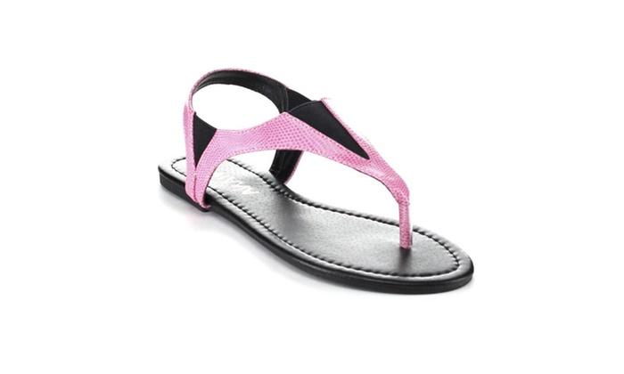 Diviana Moira-11 Women's Elastic Sling Back Thong Sandals