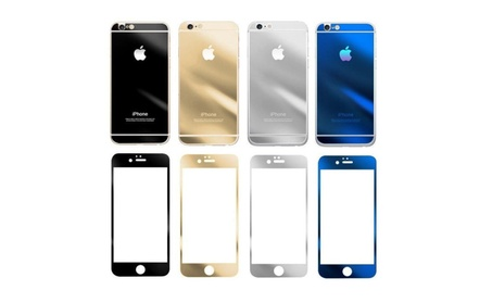 Mirror Effect Front Back Color Temper Glass Screen Protector iPhone 7 9645d1b3-18dd-4b69-9d9f-5d70a023430c