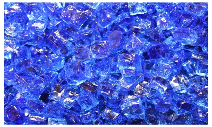 1/2 Deep Sea Cobalt Fire Glass For Fire Pit or Fireplace 10 lbs