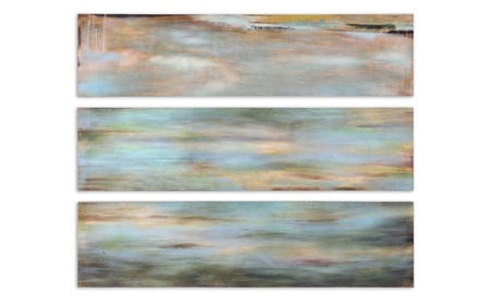 Uttermost 51012 Horizon View Panel I II III Set of 3 - Fir Wood 798857b4-b72c-4c61-84c9-f48310f1410d