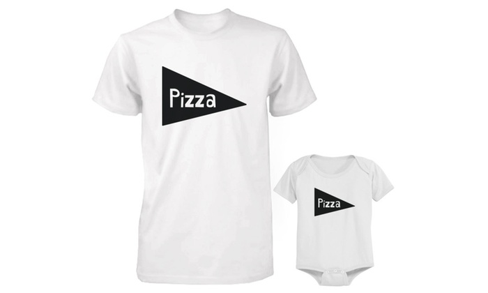 Pizza Daddy And Baby Matching Shirt And Onesie Father Tee Bodysuit