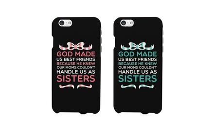 Cute BFF Matching Phone Cases - God Made Us Best Friends Phone Covers for iphone 4, iphone 5, iphone 5C, iphone 6, iphone 6 plus, Galaxy S3, Galaxy S4, Galaxy S5, HTC M8, LG G3