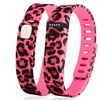 Zodaca Large Band for Fitbit Activity Tracker  w/ Clasp Pink Leopard