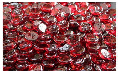 Sangria Fire Glass Beads For Fire Pit or Fireplace 10 lbs 3ddd9156-f256-4ee8-a55e-e1b81147a70a