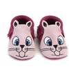 FS008 Bunny Leather  Moccasin - Fuschia and Pink