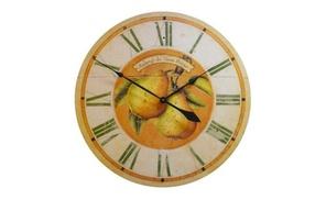 Auberge Pears 31-inch Wall Clock