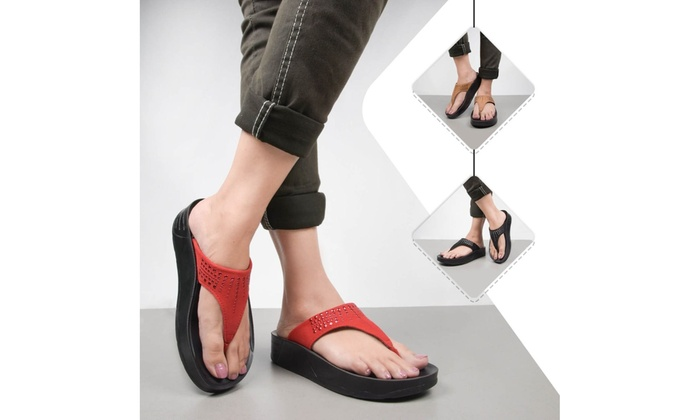 open toe shoes with arch support
