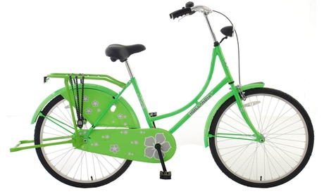"Hollandia New Oma Dutch Cruiser Bicycle, 26"" wheels, Electric Green ea51436e-fe61-4891-8207-891c56b0906e"