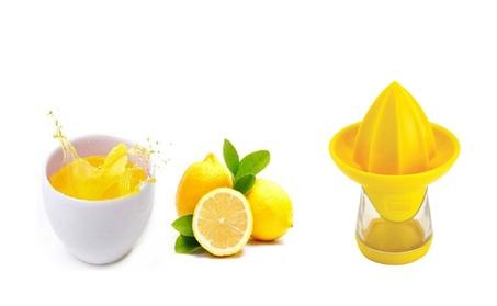 Mini Yellow Lemon Juicer & It Easy to Store Leftover Juice 1b677b9f-1c29-4750-abc0-9a1444ab907c