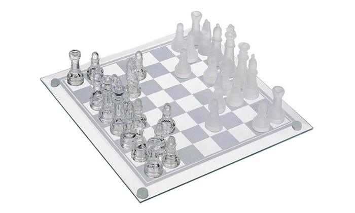Buy It Now : Glass Chess Set