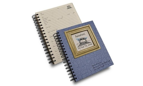 Journals Unlimited CJ-72 Adventures - My Road Trip Journal Book Light Blue