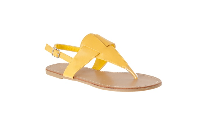 Riverberry Women's 'Sequoia' T-strap Sandals, Yellow
