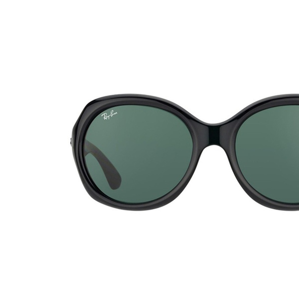 b2deca45c521df Ray-Ban RB4191 Sunglasses with Black Frame and Green Classic Lenses ...