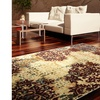 LR Home Grace Red Fall Floral Rectangle Plush Indoor Area Rug