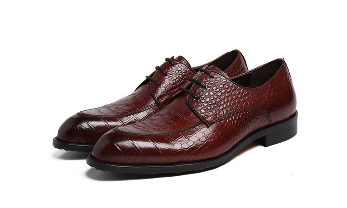 Shefetch Men's Slip On Wedding Leather Shoes