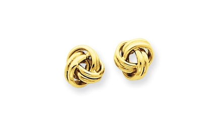 IceCarats Designer Jewelry 14K Love Knot Post Earrings