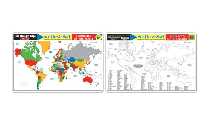 melissa doug countries of the world write a mat bundle of 6