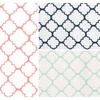 Trend Lab Quatrefoil Deluxe Flannel Fitted Crib Sheet