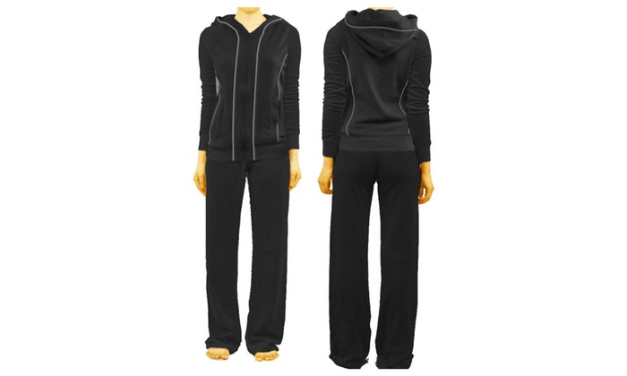 French Terry Track Suit – Black