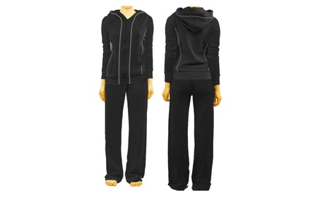 French Terry Track Suit - Black 417b4d5f-8166-40f7-ae56-0c065b0095c3