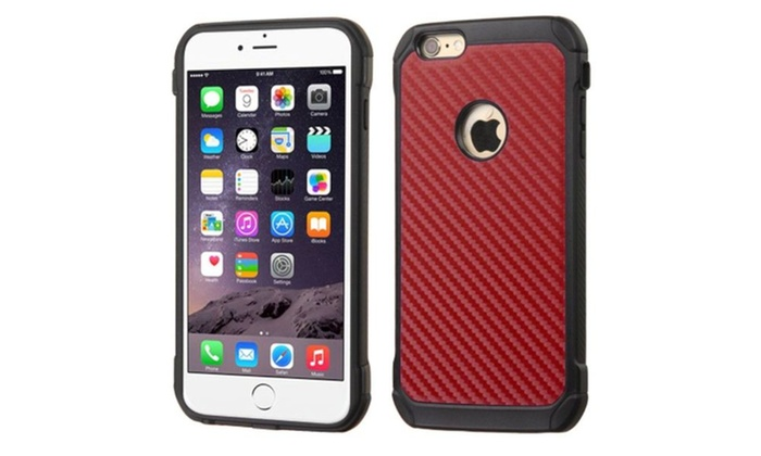 Groupon Goods: Insten Hard Rubberized Case For Apple iPhone 6 6s Plus ...